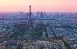 Vogelperspektive von Paris stockfotografie
