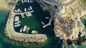 Vogelperspektive von Paros-Insel stock video