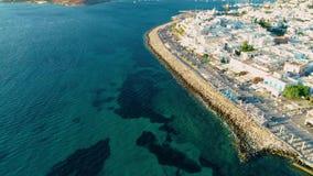 Vogelperspektive von Paros-Insel stock footage