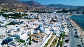 Vogelperspektive von Paros-Insel stock video footage
