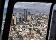Vogelperspektive von pemex Gebäude in Mexiko City Stockbilder