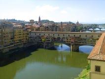 Vogelperspektive von Ponte Vecchio stockfotos