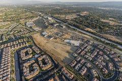 Vogelperspektive von Porter Ranch Expansion in Los Angeles stockbild