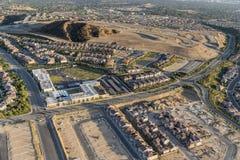 Vogelperspektive von Porter Ranch in Los Angeles Kalifornien stockfoto