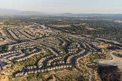 Vogelperspektive von Porter Ranch Streets in Los Angeles lizenzfreies stockfoto