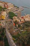 Vogelperspektive von Porto Venere Lizenzfreies Stockfoto
