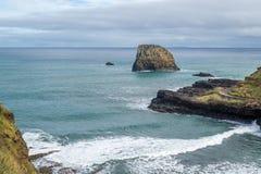 Vogelperspektive von Praia DA Alagoa, der Strand des Surfers in Madeira-Insel lizenzfreie stockfotos