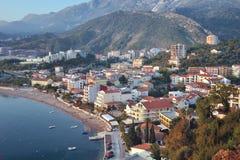 Vogelperspektive von Rafailovici, Montenegro Stockfoto