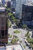 Vogelperspektive von reforma Straße in Mexiko City Lizenzfreies Stockbild
