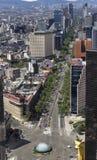 Vogelperspektive von reforma Straße in Mexiko City Stockbild