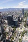 Vogelperspektive von reforma Straße in Mexiko City Stockfotos