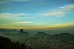 Vogelperspektive von Rio, Brasilien Stockbilder