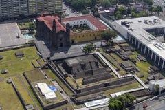 Vogelperspektive von Ruinen in Mexiko City Stockfotos