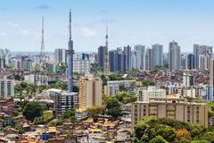 Vogelperspektive von Salvador-Stadtbild, Bahia, Brasilien Lizenzfreie Stockbilder