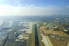 Vogelperspektive von San Diego-Flughafen Lizenzfreie Stockfotografie