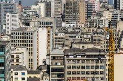 Vogelperspektive von Sao Paulo City im Stadtzentrum gelegen stockfotografie