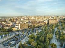 Vogelperspektive von Saragossa, Spanien Lizenzfreie Stockfotografie