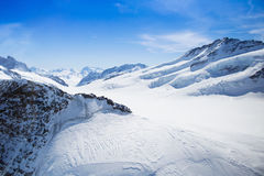 Vogelperspektive von Schweizer Alpen Lizenzfreie Stockbilder