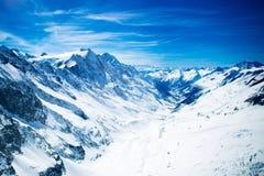 Vogelperspektive von Schweizer Alpen Lizenzfreies Stockfoto