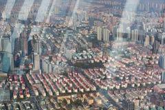 Vogelperspektive von Shanghai Stockbild