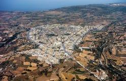Vogelperspektive von Siggiewi in Malta lizenzfreie stockfotografie