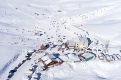 Vogelperspektive von Ski Resort Lizenzfreie Stockfotos