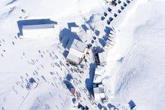 Vogelperspektive von Ski Resort Falakro, in Griechenland Stockbilder