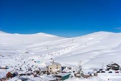 Vogelperspektive von Ski Resort Falakro, in Griechenland Lizenzfreie Stockfotografie