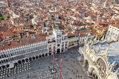 Vogelperspektive von St Mark; s-Quadrat in Venedig Stockfotos