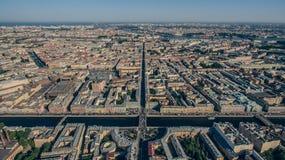 Vogelperspektive von St Petersburg, Stadtzentrum Stockbild