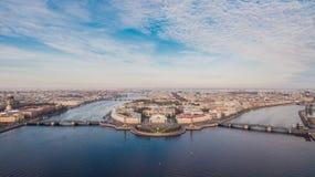 Vogelperspektive von St Petersburg, Stadtzentrum Lizenzfreies Stockfoto