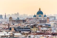Vogelperspektive von St Petersburg und von Dreiheits-Kathedrale Lizenzfreies Stockbild