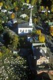 Vogelperspektive von Stowe, VT im Herbst auf szenischem Weg 100 Stockbild
