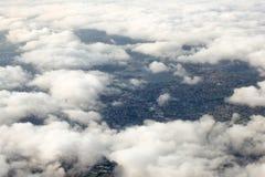 Vogelperspektive von Sydney, Australien, genommen vom Flugzeug Lizenzfreie Stockfotos