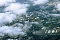 Vogelperspektive von Sydney, Australien, genommen vom Flugzeug Lizenzfreie Stockfotografie