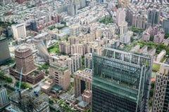 Vogelperspektive von Taipeh-Stadt Lizenzfreie Stockbilder