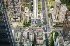 Vogelperspektive von Taipeh-Stadt Stockbilder