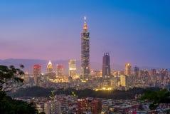 Vogelperspektive von Taipeh-Stadt Stockbild