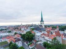 Vogelperspektive von Tallinn, Estland Lizenzfreies Stockbild