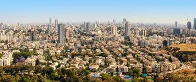 Vogelperspektive von Tel Aviv städtischen Skylinen Lizenzfreie Stockbilder