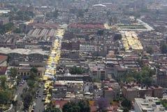Vogelperspektive von tepito in Mexiko City Lizenzfreies Stockbild
