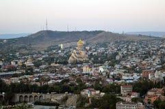 Vogelperspektive von Tiflis Stockfotografie
