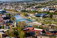 Vogelperspektive von Tiflis, Georgia Lizenzfreies Stockfoto