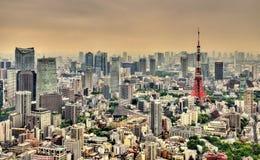 Vogelperspektive von Tokyo-Turm Stockbilder