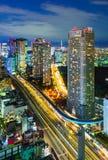 Vogelperspektive von Tokyo-Wolkenkratzern, Minato, Japan Lizenzfreie Stockfotografie