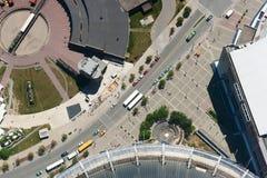 Vogelperspektive von Toronto im Stadtzentrum gelegen Stockfotografie