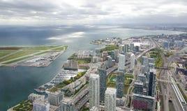 Vogelperspektive von Toronto, Kanada Lizenzfreie Stockfotos