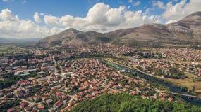 Vogelperspektive von Trebinje-Stadt Lizenzfreie Stockfotografie