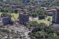 Vogelperspektive von UNAM-Universität hat Pfarrhauses Lizenzfreie Stockbilder