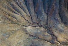 Vogelperspektive von Volcan in Fuerteventura, Kanarische Inseln, Spanien lizenzfreie stockbilder